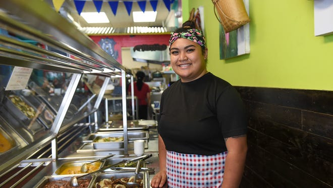 Pinoy Food Trip owner Anne Elenzano at her restaurant in Tamuning on July 3, 2018.
