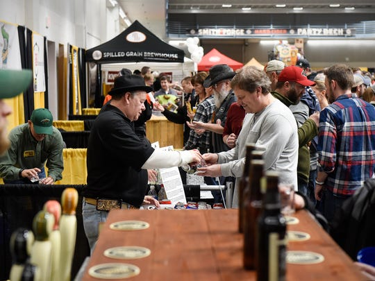 Samples are poured from several breweries Saturday,
