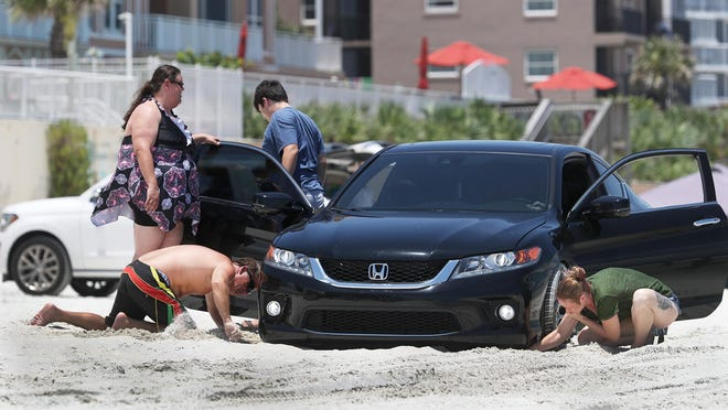 Alan Delisle, a Daytona Beach resident since 1978, said it's important to keep traction between your tires and the beach sand so that your car doesn't get stuck.