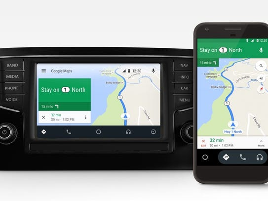 Android Auto on the car and on the phone.