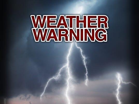 Presto graphic Weather Warning
