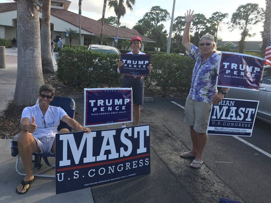 """The most violent gesture we've seen is the middle finger,"" said Rob Stehlin, a Donald Trump supporter and Jensen Beach resident."