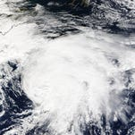 Tropical Storm Ana on May 9, 2015.