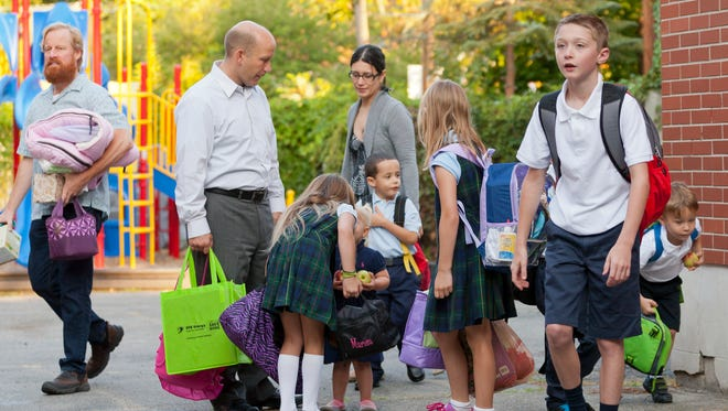 The first day of the 2014 school year at the Immaculate Conception School in Ithaca.