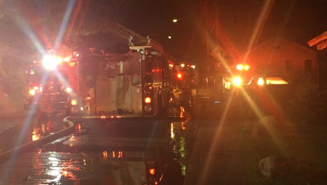 A person died in a fire at a home on Madison Avenue in Covington early Wednesday.