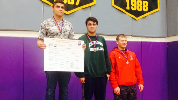 North Buncombe's Peter Simonovich won his weight class