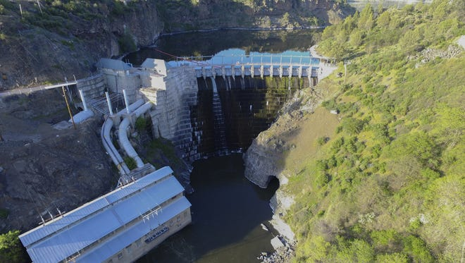 The Copco No. 1 Dam in Siskiyou County would be removed under a plan proposed by the Klamath River Renewal Corp.