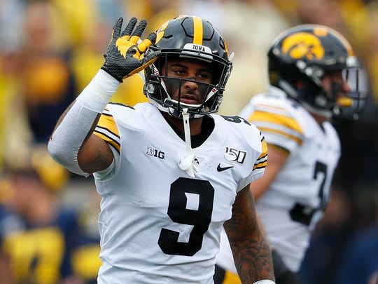"Iowa safety Geno Stone, who recorded his first interception of the season Saturday at Michigan, still thinks this will be a ""special"" Hawkeye team."
