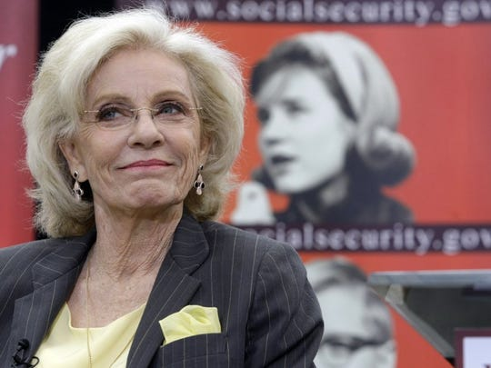 Academy and Emmy award-winning actress Patty Duke pictured during a news conference in 2010.