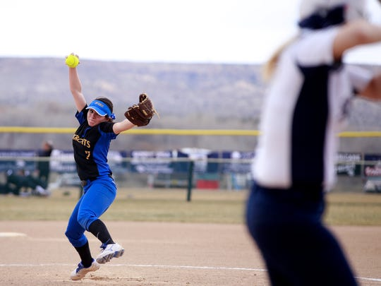 Bloomfield's Thalia O'Neal winds up during a game against Silver on Saturday at Farmington Sports Complex in Farmington.