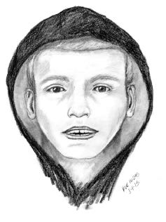 Mesa police provided a sketch of the man they are looking for.