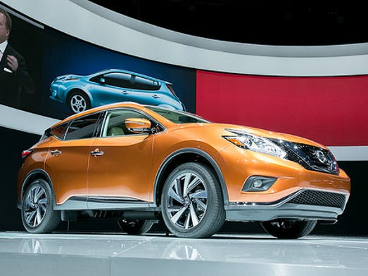 The redone 2015 Nissan Murano on the stand at the L.A.