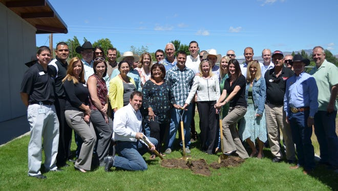 The Chamber leaders, members of Leadership Reno Sparks class of 2013 and donor supporters joined Marvin Picollo School Principal Matt Burak at a groundbreaking ceremony.