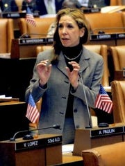 State Assembly member Amy Paulin, D-Scarsdale, says