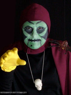Legendary horror host Sammy Terry will scare guests at Scarevania Friday, October 16 starting at 8:00 p.m.