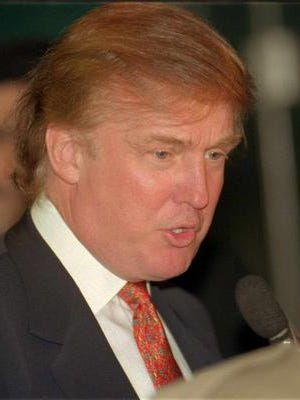 Donald Trump spoke to a standing-room-only crowd during a Shreveport Rotary Club meeting in 1998.