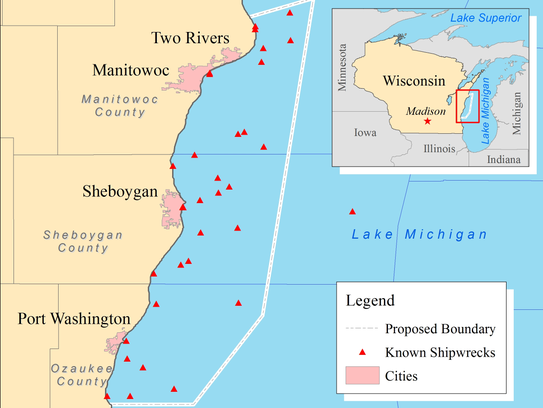 Proposed Lake Michigan National Marine Sanctuary.