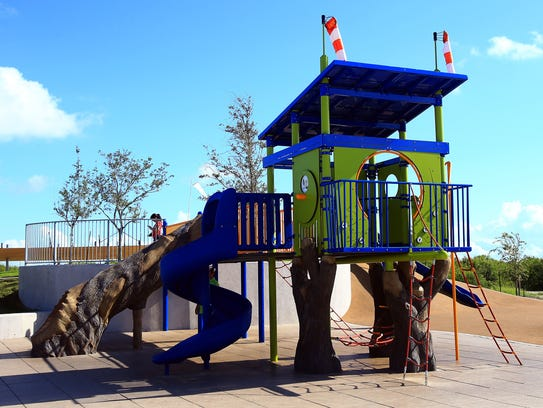 A playground at the Oso Bay Wetlands Preserve & Learning
