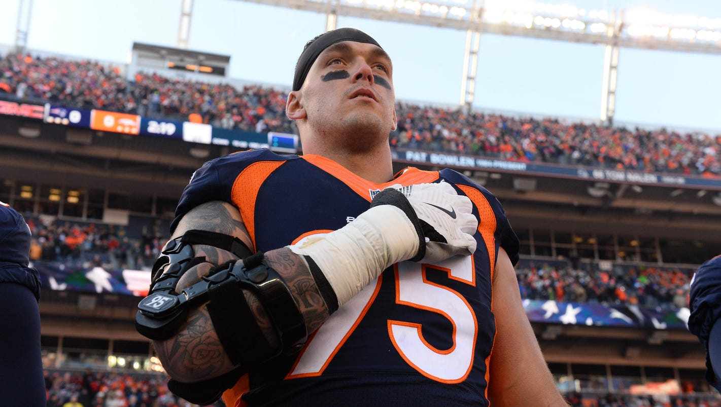 Derek Wolfe statement about anthem protests Proud to be an American