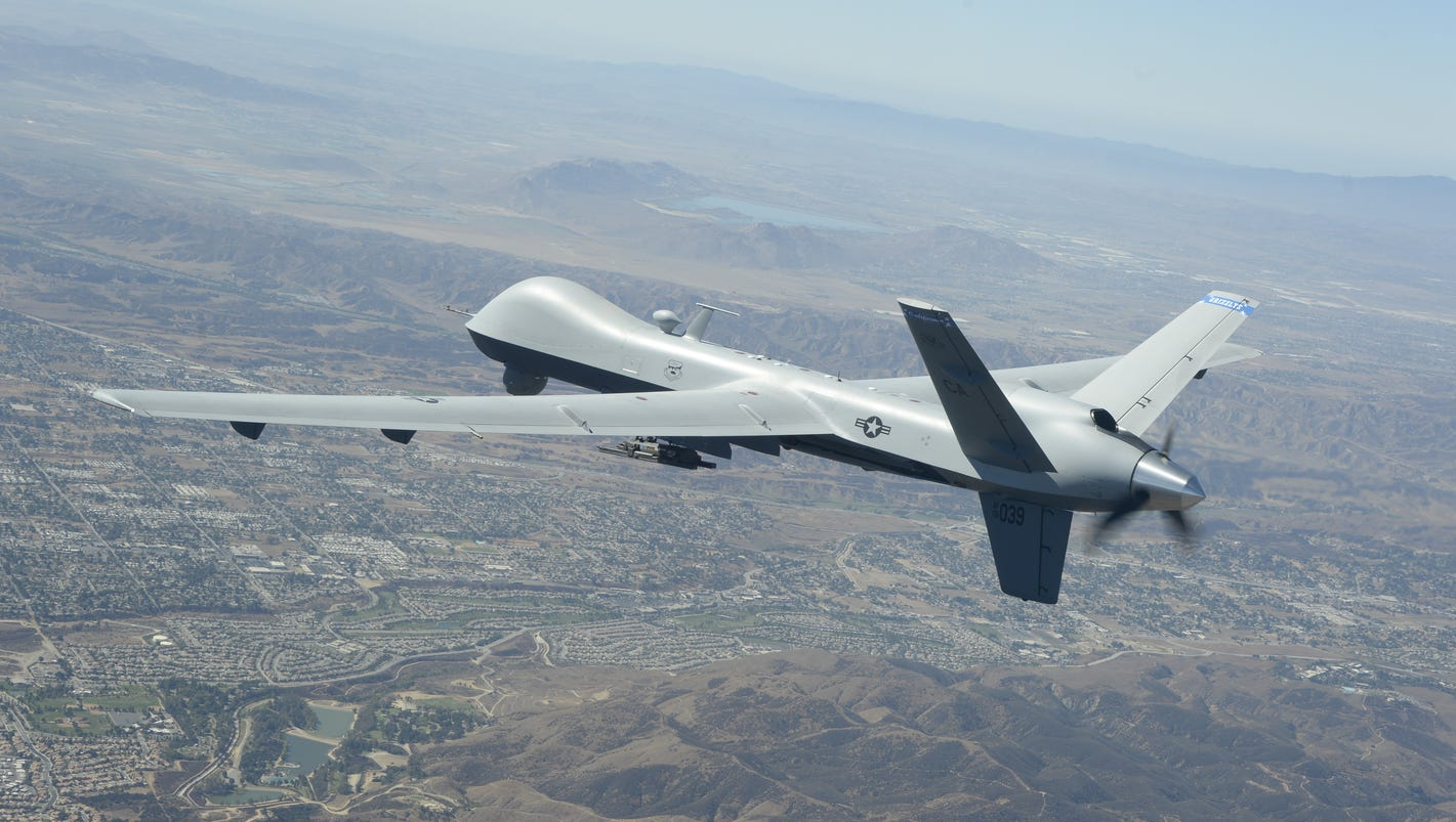 Future of fighting wildfires: Military Reaper drones provide real-time photos, video