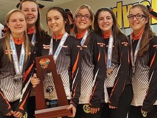 The Lincoln Park Academy girls bowling team finished