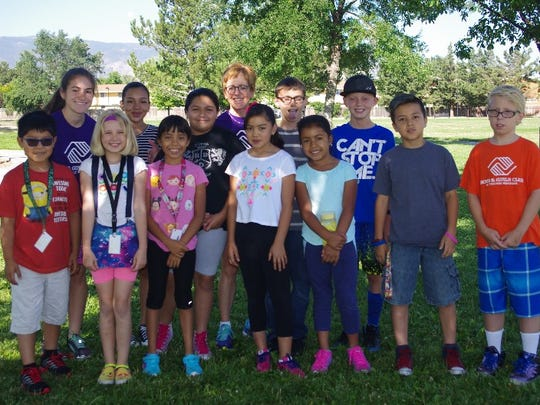 Some of the young runners who participated in the running camp this summer southeast Reno.