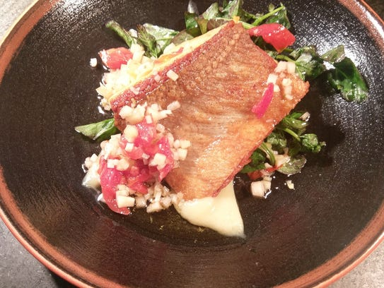 Seared Organic Ocean Trout at Ninety Acres in Far Hills.