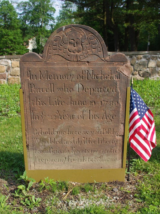 Parcell Stone with Flag