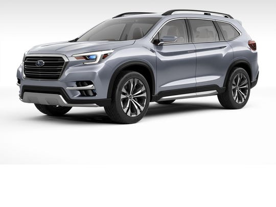 Subaru showed its first full-size SUV: the Ascent. It was presented as a concept, but Subaru said it will build the vehicle in Indiana next year.
