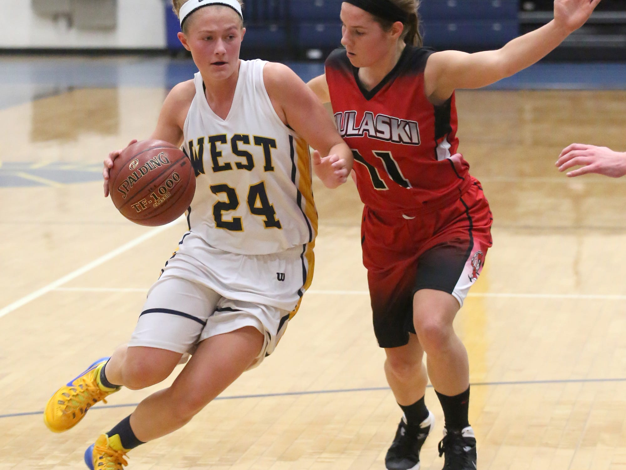 Wausau West senior Jasmin Samz was named the Gannett Central Wisconsin Media girls basketball player of they year. She led the Wisconsin Valley in scoring and was the conference's player of the year.