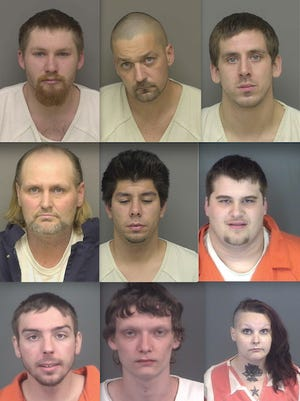 Top row, from left: Julian Allport, Jason Randolph and Anthony Davis. Middle row: Carl Parton, Thor Skalski and Kenneth King. Bottom row: Joshua Kashich, Tyler Finney and Alicia Giminelli.