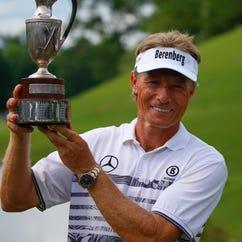 Bernhard Langer ties Jack Nicklaus' record of eight senior major titles