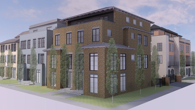 A rendering of Liberty Place at Lockerbie Square on a half-acre plot of land just east of Mass Ave.