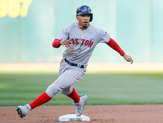 USP MLB: BOSTON RED SOX AT OAKLAND ATHLETICS S BBA OAK BOS USA CA