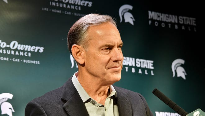 Mark Dantonio speaks at his news conference Thursday.