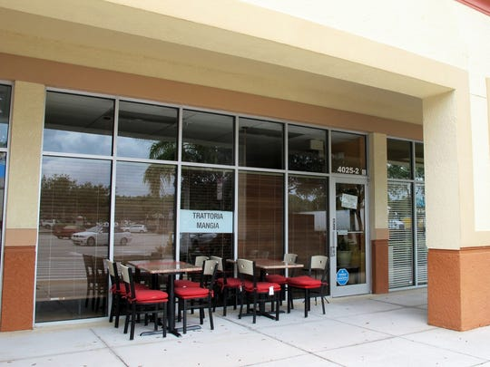 Trattoria Mangia quietly opened July 19 in Countryside Shoppes on the southwest corner of Santa Barbara Boulevard and Radio Road in East Naples.