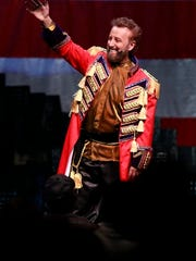 Branson entertainer Yakov Smirnoff performs at his theater in Branson on Wednesday, July 18, 2012.