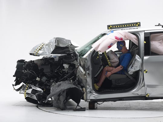 2015 ford f 150 crew cabthis crash test duplicates what happens when the front corner of the vehicle hits a utility pole at 40 mph in the crew cab