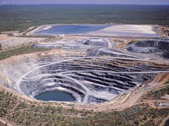 An ariel view of a uranium mine.