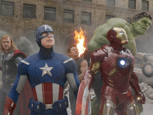 """In 2012's """"The Avengers,"""" you get (from left) Thor"""