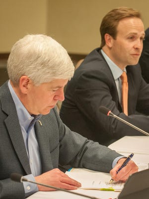Governor Rick Snyder and Lt. Governor Brian Calley.