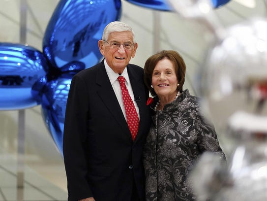 In this Sept. 16, 2015 file photo, Eli Broad and his