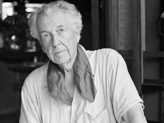 In this file photo of Aug. 16, 1938, architect Frank Lloyd Wright is seen in his studio and home in Taliesin, Spring Green, Wis. A Frank Lloyd Wright archive of more than 23,000 architectural drawings and other materials is being moved permanently to the Museum of Modern Art and Columbia University's Avery Architectural & Fine Arts Library in New York, it was announced, Tuesday, Sept. 4, 2012 by Sean Malone, president of the Frank Lloyd Wright Foundation at Taliesin West in Scottsdale, Ariz.
