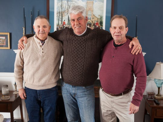 From left to right, Merv Woten, Pete Broooks and Tim