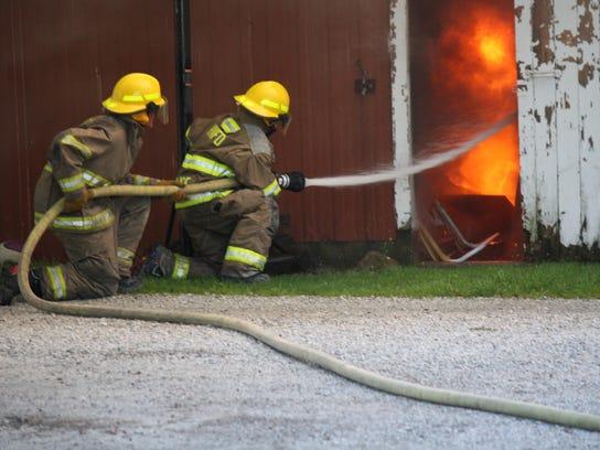 Highgate firefighters battle a blaze at the Boucher
