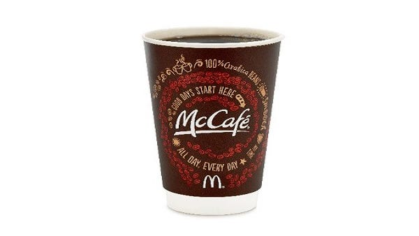 McDonald's is giving out free cups of its small McCafe coffee now through Sept. 29.
