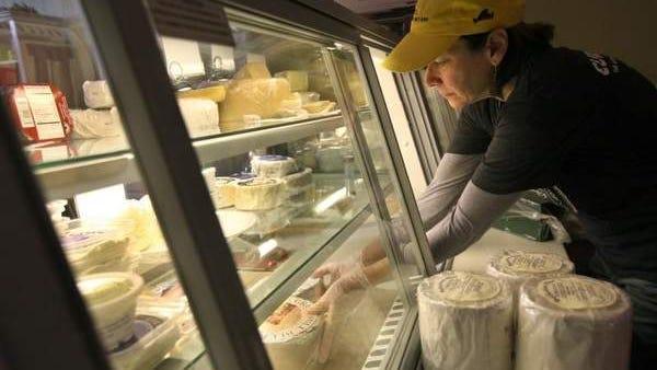 Ann Duckett at the Little Bleu Cheese Shop.
