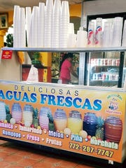 Aquas frescas or cold waters are a blend of fruits,