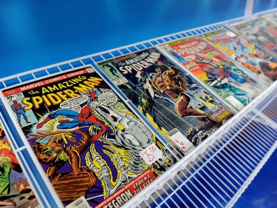 Comic books for sale at the newly opened Secret Headquarters on N. First Ave. in Evansville, March 18, 2016.