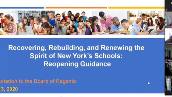 The Board of Regents held their July meeting via Zoom on Monday, July 13, 2020. They gave a preview presentation of the state's guidelines for reopening schools.